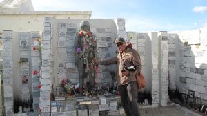 Grave of El Indito, Punto Arenas, Chile, February 2011